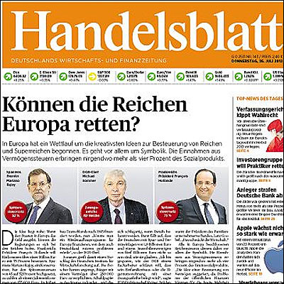 Portada del Handelsblatt