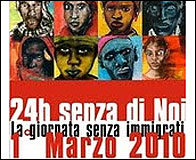 Cartel de la huelga en Italia