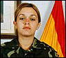 La soldado española Idoia Rodriguez