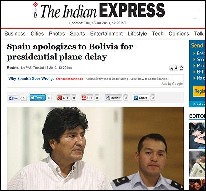 El artículo de The Indian Express