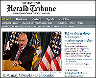 La web del International Herald Tribune