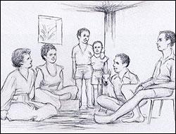 Dibujo de ilusión optica psicologica