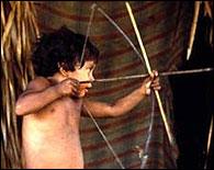 Un niño de la tribu Awa Guaja