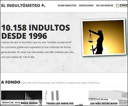 Web del Indultómetro