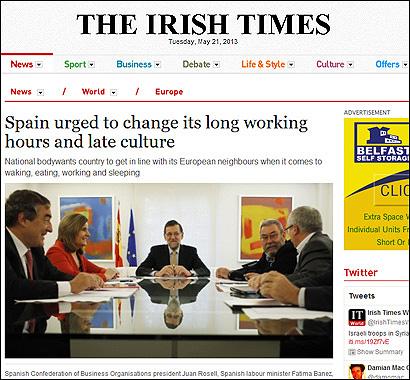 El artículo en The Irish Times