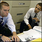 Jon Favreau y Barack Obama