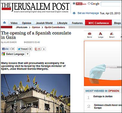 Artículo de Jerusalem Post