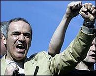 Garri Kasparov en una protesta