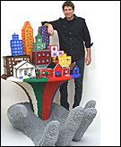 Una escultura en Lego de Sawayan
