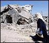 Una casa destruída en Libano durante la guerra de 2006