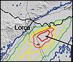 Imagen de satélite de Lorca