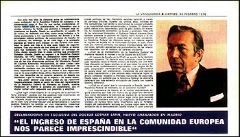 Entrevista de La Vanguardia con Lothar Lahn en 1978