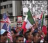 Manifestacion de inmigrantes ilgales en EEUU