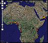 El mapa de ataques piratas de 2008