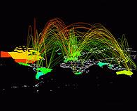 El mapamundi de conexiones a Internet