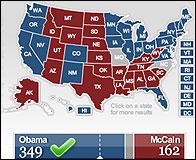Mapa electoral de EEUU en el 4N