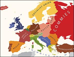 Un mapa segun los estereotipos en EEUU