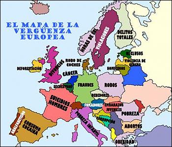 El mapa europeo de la vergüenza