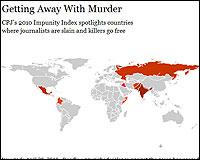 El mapa de Impunidad del CPJ