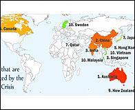 El mapa de los que mejor llevan la crisis
