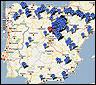 Mapa de pueblos abandonados en España