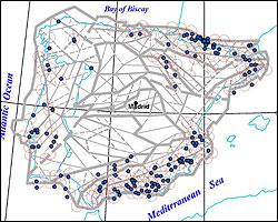El mapa de terremotos