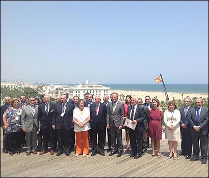 Autoridades y empresarios en el Acto Empresarial Marca España