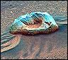 Una roca solitaria captada en Marte