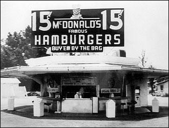 El primer restaurante de Mac Donalds en 1948