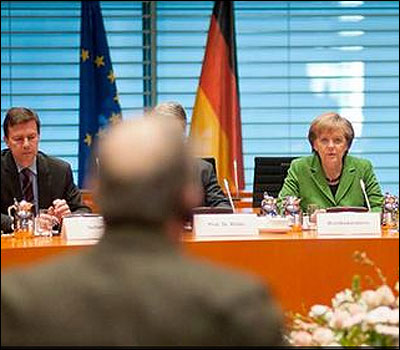 Reunion de Angela Merkel con sindicatos
