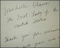 La nota de Michelle Obama en el libro del Parador de Granada