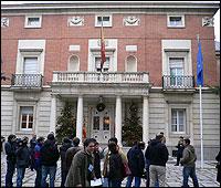 Entrada al Palacio de la Moncloa