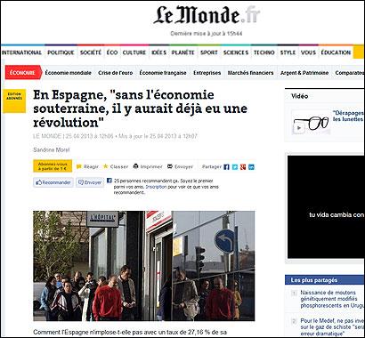 El texto de Le Monde