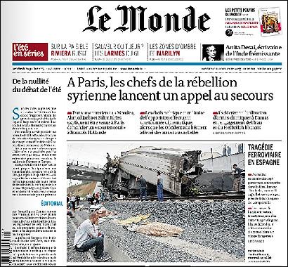 Portad de Le Monde