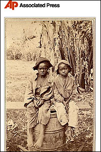 La foto de los niños esclavos