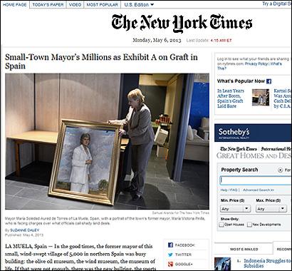 El articulo del NYT sobre La Muela