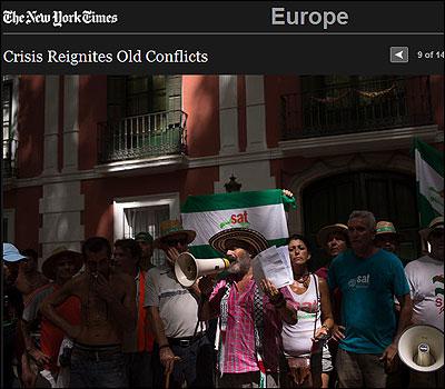 La ocupación del SAT en el NYT
