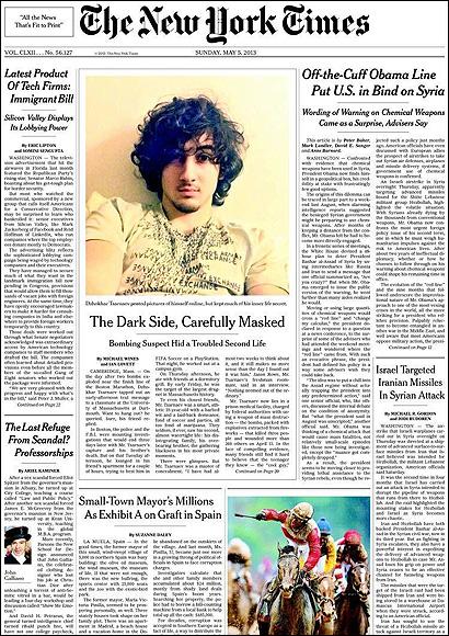 Portada del NYT sobre la corrupción en España
