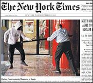 La portada del NY Times sobre las protestas