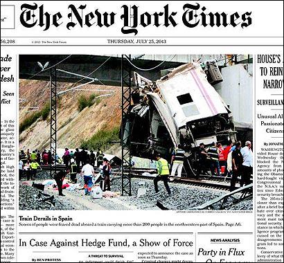 La portad del NYT