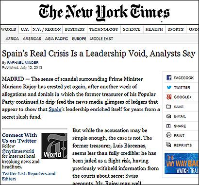 El artículo del NYT