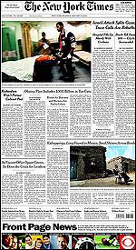 La portada del New York Times con publicidad