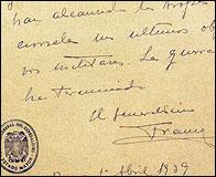 El parte de Franco anunciando el fin de la Guerra