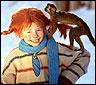 El personaje de Pippi Calzaslargas de TV