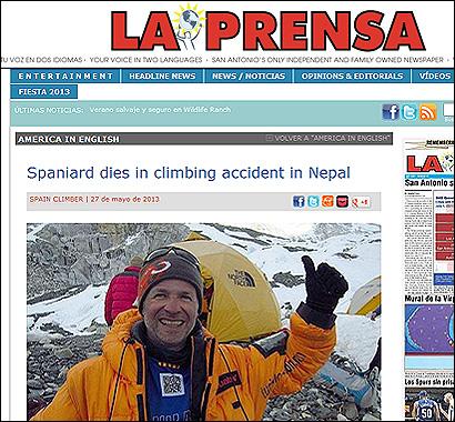 La muerte de Garra en el diario de EEUU La Prensa