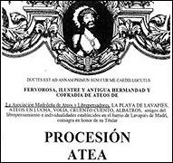 Cartel de convocatoria de la procesion