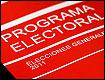 Foto del programa del PSOE