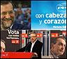 Campaña y vallas del PP y el PSOE