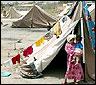 Refugiados iraquies en un campamento