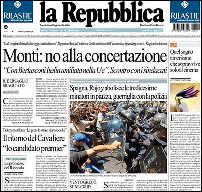 Portada de la Repubblica